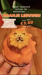 Oranje Leeuw ijs gebak